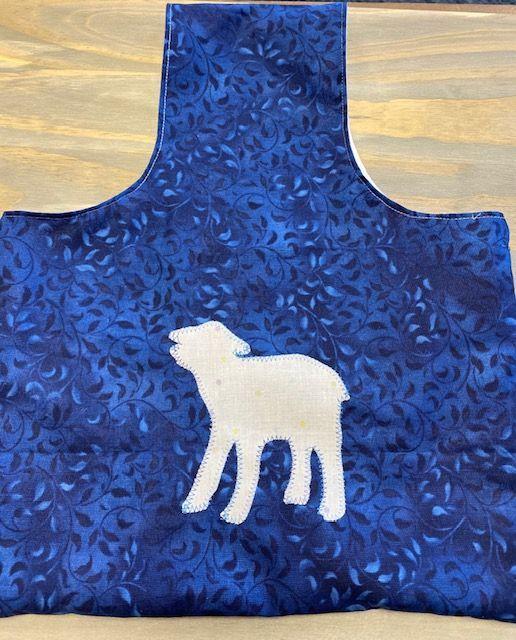 Mimi Pat Blue Lamb Bag 1